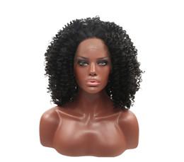 Vente chaude de mode de haute qualité Afro bouclés cheveux moyens dentelle frontale perruques 12 pouces élastique dentelle cap avec tissage bonnet livraison gratuite ? partir de fabricateur