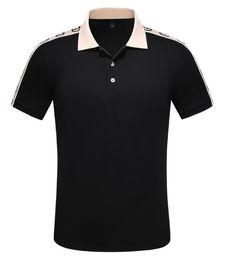 одежда для змей Скидка 2020 Летняя марка одежды Роскошные дизайнерские рубашки поло мужчин Повседневный Поло Мода Змея Bee печати Вышивка T Shirt High Street Mens Polos