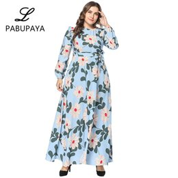 c93c05aed2 Elegant Vintage Muslims Dresses Floral Flowy Islamic Turkey Arab Long  Dresses Loose Casual Robes Party Gown Boho Style Dress