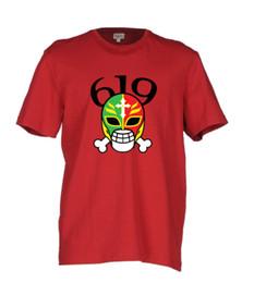 T-shirt rouge femme taille libre en Ligne-Rey Mysterio 619 Art Red T Shirt Wrestling WCW WWF TOUTES LES TAILLES Tee Hommes Femmes Mode Unisexe t-shirt Livraison Gratuite