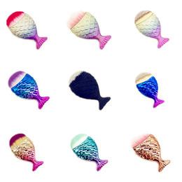fisch skalierung pinsel Rabatt Mermaid Make-up Pinsel Puder Kontur Fischschuppen Mermaidsalon Foundation Brush Gesichtspinsel für Beauty Cosmetics RRA1973