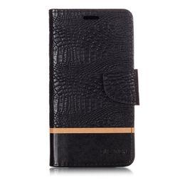caixa de nota de couro de crocodilo Desconto Splice Color Wallet Case Para Xiaomi Redmi Note 4X Filp Cover Crocodile pattern PU Leather Mobile Phone Bags