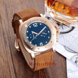 Nuevo estilo Big Dial Hombres Relojes mecánicos automáticos Relojes de pulsera de caballero de cuero exquisito deporte hombres reloj desde fabricantes