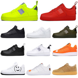 2019 vintage luftwaffe nike air force 1 af1 just do it Vintage Running Schuhe Herren Damen Utility Weiß Schwarz Orange Weizen Athletic Herren Trainer Sport Sneakers Plattform Skateboard Schuhgröße 36-45 günstig vintage luftwaffe