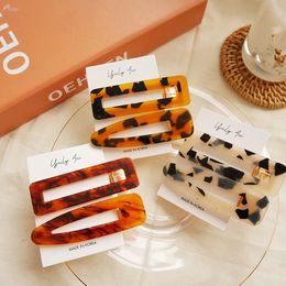2019 accessori dei capelli all'ingrosso giapponese Donne d'epoca Giappone Acetato Hairpin Hair Clip Giappone Accessori per capelli Geometrica Leopard Fashion Jewelry Girl Gift all'ingrosso accessori dei capelli all'ingrosso giapponese economici