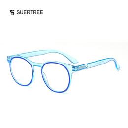 febf7e0c20c SUERTREE Fashion Anti Blue Light Computer Glasses Comfort Spring Hinge  Eyeglasses Frame Trendy Eyewear JH210