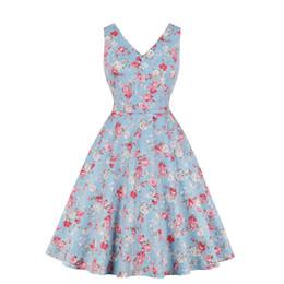Más El Tamaño De La Impresión Floral Midi Dress 2019 Mujeres Vestidos Juveniles De Gran Tamaño Con Cuello En V Sin Mangas De Ropa Elegante Fiesta