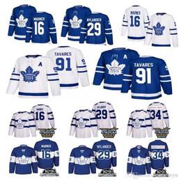 254967996 2019 New Toronto Maple Leafs 91 John Tavares Jersey 34 Auston matthews 16  Mitchell Marner Hockey Jerseys