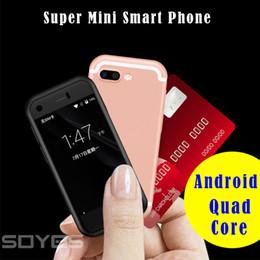 2019 mini sim android мобильные телефоны Оригинал SOYES 7S 6s Mini Android Смарт-мобильный телефон MTK6580 Quad Core 5.0MP Dual SIM Двойной режим ожидания Разблокирована Карманный телефон MP4 скидка mini sim android мобильные телефоны