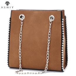 Модные бисерные сумки онлайн-мешок плеча женщин замша мешок способа Tote сумки дизайнерские сумки высокого качества Crossbody сумки бисера цепи марки SZHIY
