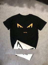 116ab8d6 2019 summer brand designer men's T-shirt demon eyes letter round neck half  sleeve loose casual couple men and women with the same paragraph