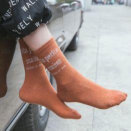 Голеностопный носок японский онлайн-Women's Letter Harajuku Ankle Socks Japanese Creative Funny Socks Spring Women Warm Street White Sokken Calcetines