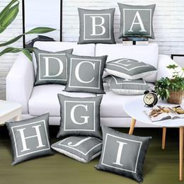 Cuscini di raso online-Fodere per cuscino da tiro personalizzate fai-da-te Lino Stampa digitale Logo Lettera Regali pubblicitari di marca Fodera per cuscino Divano Auto Design staccabile gratuito
