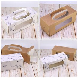 eco paper roll Coupons - Kraft Paper Window Cookie Boxes Cuboid Portable Eco Friendly Cake Roll West Point Box Gift Wrap Hot Sale0 95ltE1
