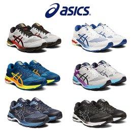 melhores tênis de corrida acolchoados Desconto 2019 Asics Kayano 26 Esporte Tênis de Corrida Dos Homens Melhor Qualidade Preto Branco Mens Esporte Almofada Sapatilha Sapatos de Grife Tamanho 40-45