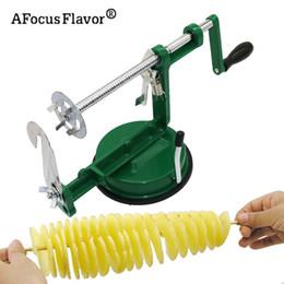 kartoffel-twister-cutter Rabatt 1 Stück Twister Kartoffel Edelstahl Küche Zubehör Tornado Slicer Manuelle Cutter Spiral Chips Q190524
