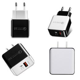 adaptateur de chargeur 5v 3a Promotion QC 3.0 Chargeur mural rapide USB Charge rapide 5V 3A 9V 2A Adaptateur secteur de voyage Charge rapide US EU Plug pour Samsung Huawei Téléphone iPhone 7 8 X