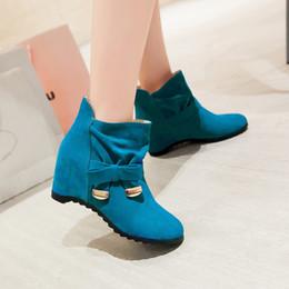 Botas x dedo del pie online-Tamaño grande 34-43 Nuevas botas de hebilla de punta redonda para mujer Botines sexy tacones Moda cálida Invierno Primavera Otoño Zapatos casuales x-4