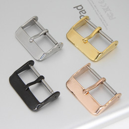 Bracelets de montre Noir / argent / or rose / doré Bracelet en métal Bracelet à boucle ardillon 18mm 20mm 22mm 24mm ? partir de fabricateur