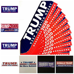 nastro in vinile bianco Sconti Trump Car Stickers 13 Styles 76 * 23mm Keep Make America Great Again Donald Trump Stickers Bumper Sticker Articoli novità 10pcs / set OOA6901