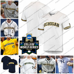 Jack de beisebol on-line-Nome do produto: CWS 2019 Michigan Wolverines Baseball Jersey Qualquer nome número 0 Joe Donovan 2 Jack Blomgren 4 Ako Thomas 47 Tommy Henry S-4XL