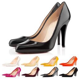 2019 robes noires pour femmes à bas prix Office Caree ACE designer de luxe femmes chaussures habillées chaussures rouges talons hauts 8cm 10cm 12cm Nude noir blanc cuir femmes Toes Pumps promotion robes noires pour femmes à bas prix