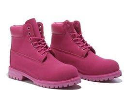 Bottes hiver hiver femme en Ligne-Bottes de neige d'hiver pour les femmes en plein air imperméable rouge rose blanc femmes bottines taille 36-40