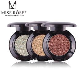 color rosa intenso Rebajas 2017 Nuevo Brillo Sombra de Ojos Marca Cosméticos Pigmento Plata Oro Cálido Brillo Brillo Sombra de ojos Paleta única Miss Rose Maquillaje