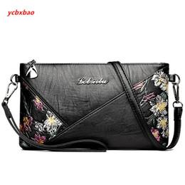 sacchetto di spalla del fiore nero Sconti Le donne di lusso del progettista del cuoio di stampa del fiore PU Bag borsa a tracolla del nero Mini Crossbody borsa delle signore Baguette frizione