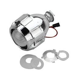 2019 scheinwerfer nach maß 2,5-Zoll-Scheinwerfer H1 H3 H4 H7 H11 9005 Xenon-Mini-Bi-Xenon-HID Klare Projektorlinsenabdeckung Verkleidung Scheinwerfer Custom Silber rabatt scheinwerfer nach maß