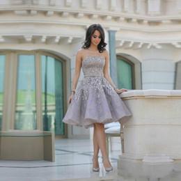 af1000671f 2019 vestido brillante de peplum Encantador gris sin tirantes vestidos del  regreso al hogar lentejuelas brillantes