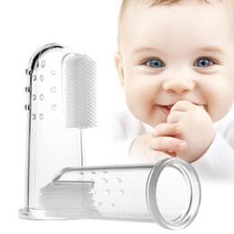 Cepillo de dientes Cepillo de dientes Cuidado del bebé Suave y seguro Bebé Niños Silicona Dedo Cepillo de dientes Cepillo de goma Dientes de niños Masaje claro desde fabricantes