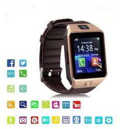 2019 relógio de esporte de pulso responde telefone inteligente Dz09 bluetooth smartwatch para wrisband android iphone relógios inteligentes sim montre inteligente mobile phone camara sono estado smart watch