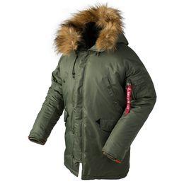 зимнее военное пальто Скидка Новый N3B фугу зима пуховик мужчины  тактический длинный Канада пальто военный меховой 07f58e60968cc