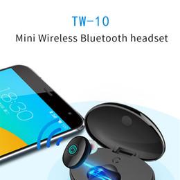 telefono senza fili del bluetooth Sconti Mini auricolare TW-10 auricolare senza fili Bluetooth Cuffie auricolari bassi profondi stereo con microfono cordless singoli auricolari cuffie per telefoni