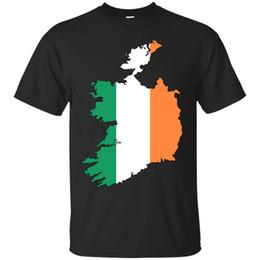 Camiseta branca laranja on-line-IRLANDA - bandeira do esboço do país Camisetas Orgulho nacional Dublin Orange Green White