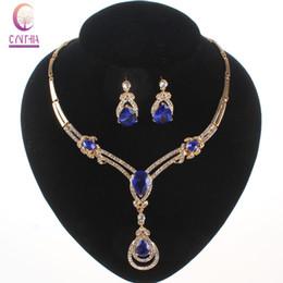 conjunto de jóias de aço inoxidável de urso Desconto Marca Colar de Moda de Nova Set traje Africano Conjunto de Jóias de ouro 18K nupcial do casamento de cristal austríaco strass