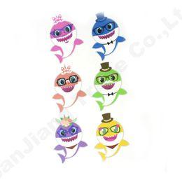 24 pz / lotto Baby Shark Sticker Rifornimenti del partito Gioco Boy Girl Paster DIY del fumetto del giocattolo Decor decorazione della stanza dei bambini Auto Laptop adesivi A61306 da farfalle decorazioni da giardino fornitori