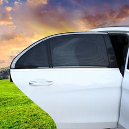 Protetores de sol on-line-2 Pçs / lote Tampa Da Janela Do Carro Lado Sol Sombra Auto Parasol UV Proteção Capa Protetor Viseira Malha Do Carro Styling HHA121