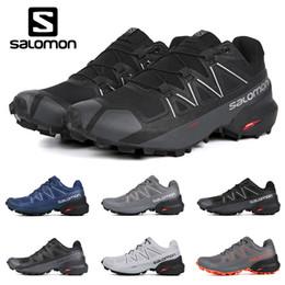 scarpe da corsa impermeabili top Sconti 2019 Scarpe da corsa originali Salomon Speedcross 5 CS uomo donna scarpe da ginnastica da uomo di alta qualità impermeabili Sneakers sportive sportive da jogging escursionismo