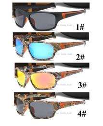 2020 occhiali da sole arancioni sportivi Camouflage PC Sport Occhiali da sole neri lente 4 colori arancione Moda uomo Occhiali da Sole in corso Guida Pesca Golf 10PCS nave veloce 9022 occhiali da sole arancioni sportivi economici