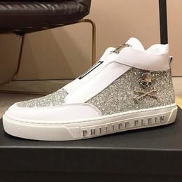 2019 chiusura di pizzo scarpa 2019 uomini di fascia alta PI @ HILP PI @ IE scarpe casual in pelle high-top di pizzo moda flash trap scarpe sportive uomo, con le scarpe di imballaggio originale wd chiusura di pizzo scarpa economici