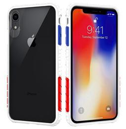 Iphone acrylique tpu noir en Ligne-Coque hybride transparente pour iphone X / XS / XR / XS MAX, acrylique transparent noir, pare-chocs en TPU de couleurs variées