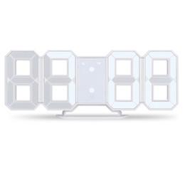 2019 мраморный аккумулятор 3D LED Настенные Часы Современный Цифровой Дисплей Будильника Домашняя Кухня Офисный Стол Стол Ночная Стена 24 или 12 Часов
