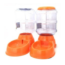 diseño de botellas de mascotas Rebajas Gravity Pet Feeder 3.5l Cat Dog Kitten Dry Food Bowl Dispensador automático Feed Dog Drink Machine