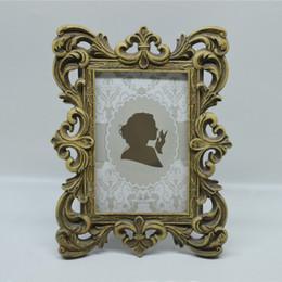 4x6 polegada e 5x7 polegadas Vintage Molduras Bronze Criativo Resina Photo Frame com Clássico Oco acima Em Torno de Edging Design de