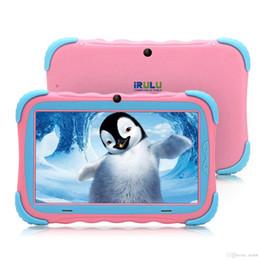 hd quad core compresse Sconti Tablet iRULU per bambini da 7 pollici Display HD aggiornato Y57 Babypad PC Andriod 7.1 con WiFi fotocamera Bluetooth e gioco GMS