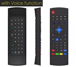 2.4ghz t2 sans fil Promotion 10pcs MX3 X3 T2 w / microphone Mini 2.4GHz sans fil Gyroscope Clavier Souris À Distance G-Capteur Gyroscope Pour STB Android TV BOX