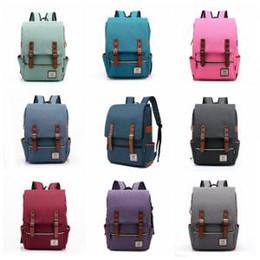 vintage style leinwand rucksack Rabatt Frauen Leinwand Rucksäcke 21 Stile Retro Vintage Laptop Rucksack Reise Freizeit Teenager Outdoor Sports Taschen OOA6191