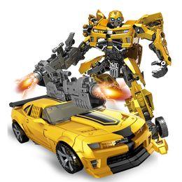 TOTOTOY YUEXING преобразование аниме фильм серии рисунок модель деформируемый автомобиль робот большая пчела большой размер ABS пластик игрушка для мальчика cheap abs movies от Поставщики abs movies